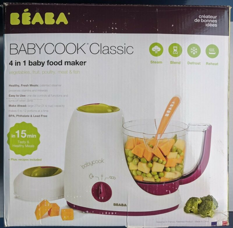 Beaba Babycook Classic 4 in 1 Food Maker; Steam Blend Defrost Reheat