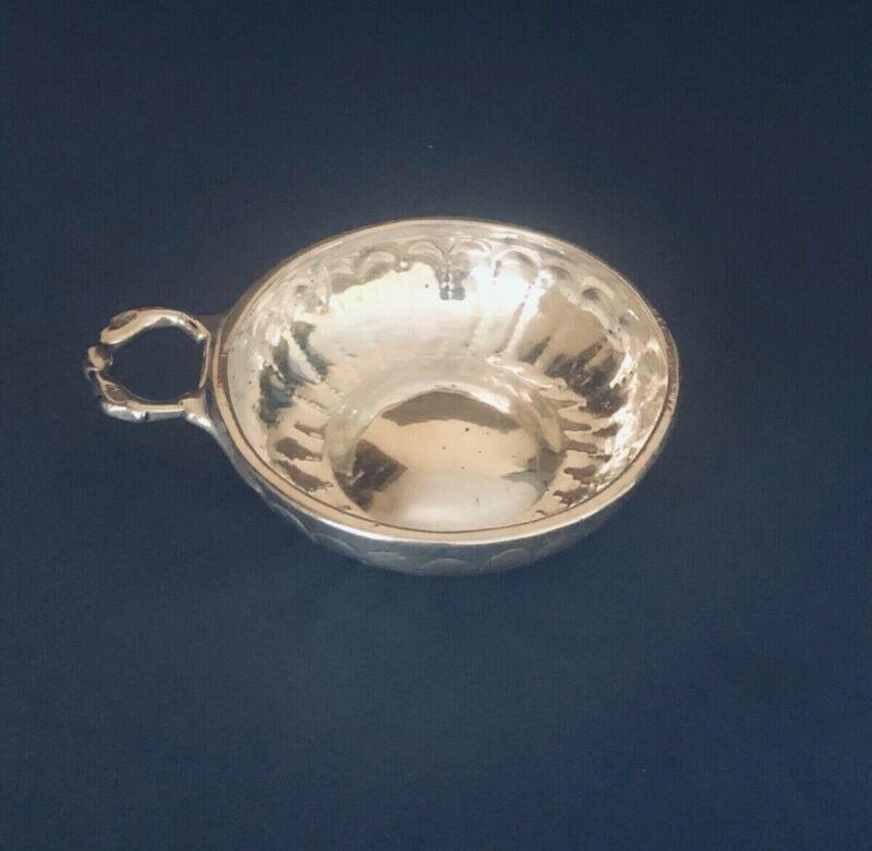 Antique French Sterling Silver Snake Handled Wine Taster/Tastevin 19th Century