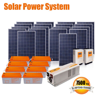 7.5KVA 110VAC/220VAC solar energy solar panel power system home electricity