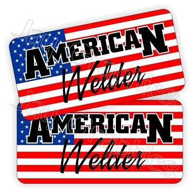 American Welder Hard Hat Stickers Usa Welding Helmet Decals Labels Mig Tig