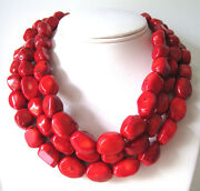 Red Coral Strand Necklace