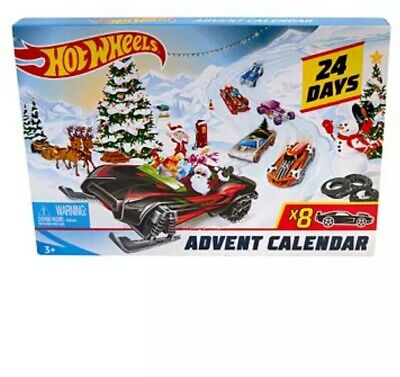 Hot Wheels 2019 Advent Calendar Vehicles NIB. Damaged Box