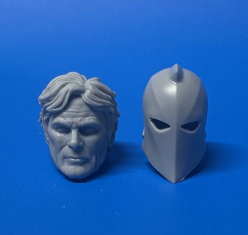 DC Dr Fate 1:12 Scale Resin Head and Helmet Cast Custom Marvel Legends ML