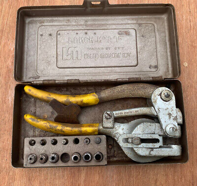 Roper Whitney No.5 Jr. Hand Punch Set With Case And Dies Sheet Metal Tool