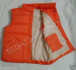 Marty Mcfly Back to the Future Puffer Orange Rust Vest Jacket Halloween Costume
