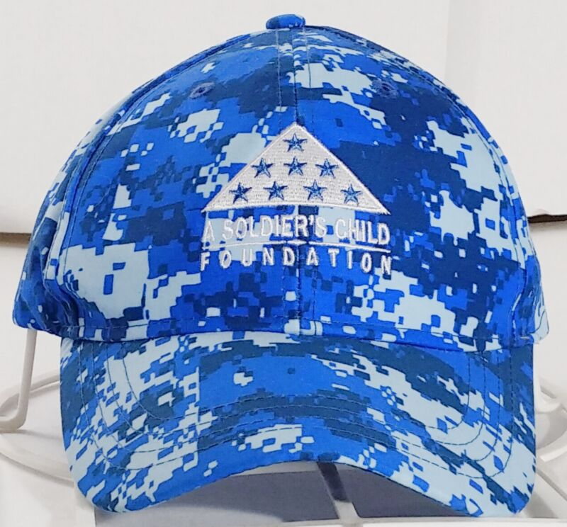 A Soldiers Child Foundation Blue Digital Camo Baseball Cap Size Adult Adjustable