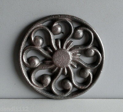 Appliques Rosette Cast Iron 3 X 3 Weld Or Solder To Your Crafts Project