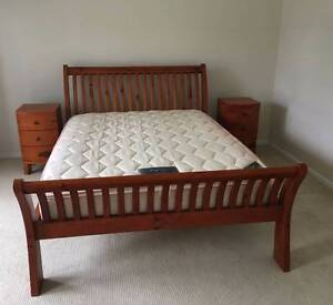 Queen Sleigh Bed with side tables & Tallboy. FREE Mattress Stapylton Gold Coast North Preview