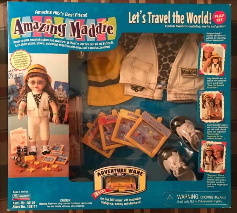 AMAZING MADDIE LETS TRAVEL THE WORLD PLAY SET ADVENTURE WARE PACK NEW 2001