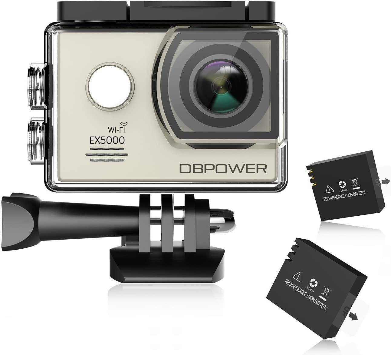 DBPOWER EX5000 Action Cam Wifi Unterwasserkamera 1080P Camera 14MP