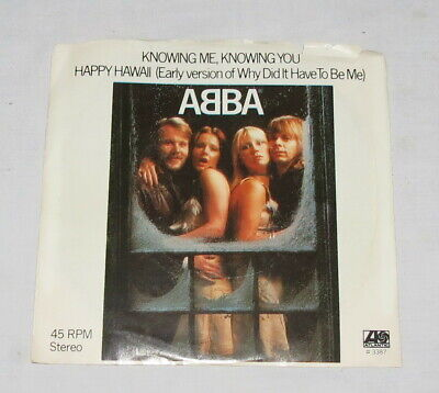 Abba Knowing Me, Knowing You & Happy Hawaii 45 Stereo Record Atlantic 3387
