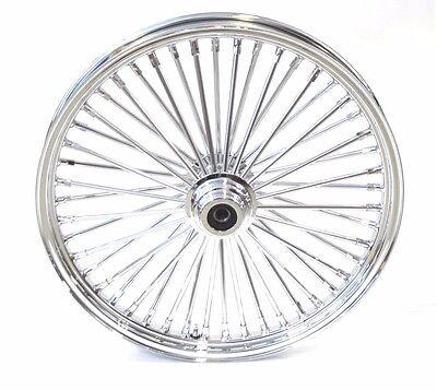"Ultima 48 King Spoke Fat 23 X 3.5 Front Wheel Rim Harley Softail 3/4 or 1"" Axle"