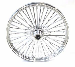 Ultima 48 King Spoke Fat 23 X 3.5 Front Wheel Rim Harley Softail 3/4 or 1