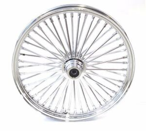 New 21 x 3.5 48 Fat King Spoke Front Wheel Chrome Rim Harley Touring Softail SD