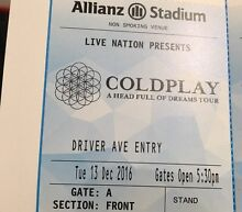 Coldplay! GOLD TICKETS 13/12 first night North Manly Manly Area Preview