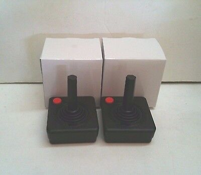 2 NEW RED BUTTON JOYSTICK CONTROLLER PADS FOR  ATARI 400 800 SYSTEM