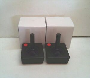 2 NEW RED BUTTON JOYSTICK CONTROLLER PADS FOR COMMODORE 64  SYSTEM