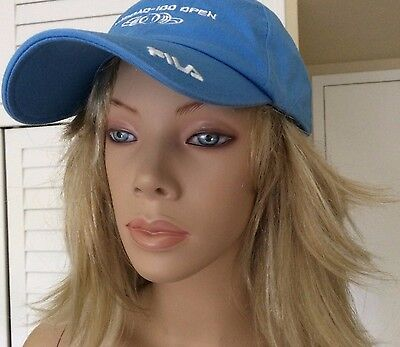 Nasdaq 100 Open Fila Tennis Tournament Miami Blue Cap Hat Auth Pre Owned