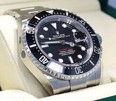 Rolex Sea-Dweller 43mm 126600 Stahl Taucher Uhr Keramic Blende Ausgabe B/P Neu ()