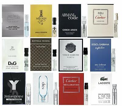 10 Mens Cologne Sample Vials Lot Burberry Ralph Lauren YSL High End Designer Lot