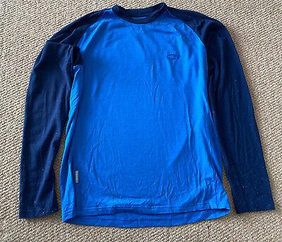 Mens Merino Icebreaker Bodyfit 260 Long Sleeve Top Jersey Used Medium