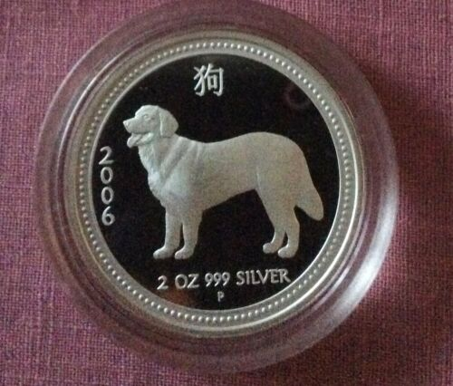 AUSTRALIA 2006 DOG Lunar Proof  Series 1 2 oz  in capsule