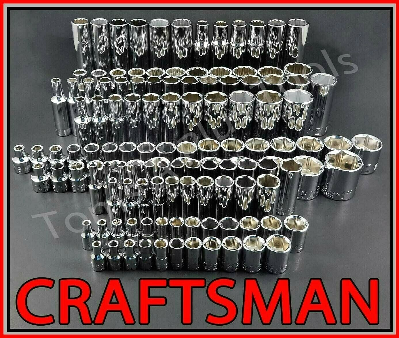 CRAFTSMAN HAND TOOLS 136pc 1/4 3/8 1/2 SAE METRIC MM Ratchet