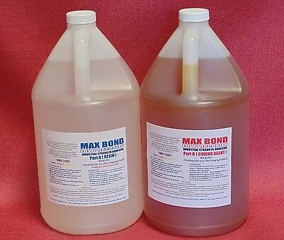 EPOXY FIBERGLASSING RESIN HIGH IMPACT & STRENGTH MARINE AEROSPACE GRADE 2Gal Kit