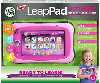 Best Kids Gift :LeapFrog LeapPad Ultimate Ready for School Tablet Toy Pink