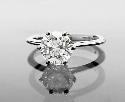 1.01 CT Round Cut Natural D/SI2 Diamond Solitaire Engagement Ring 14K White Gold