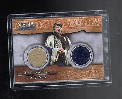 Xena  Dc8  Lucy Lawless Double Costume  Card