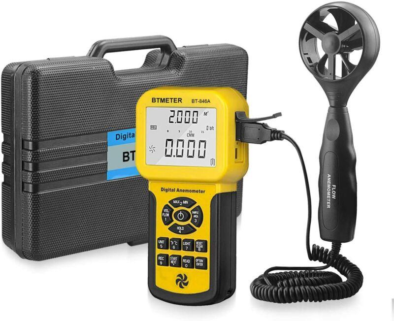 BT-846A Pro HVAC Anemometer Measures Wind Speed Wind Flow Wind Temperature CFM