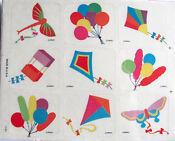 Lovely Vintage DBGCI Rainbow Kites Sticker Sheet - Drawing Board Greetings Kit