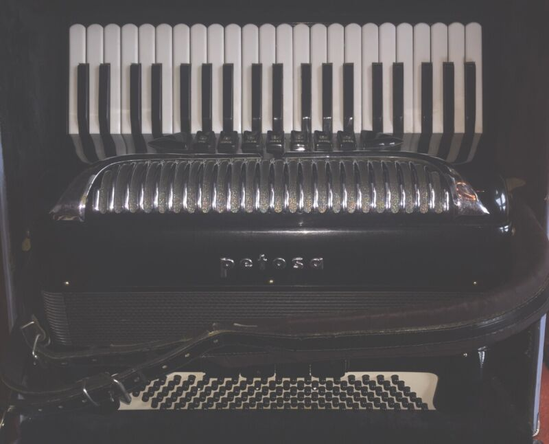 Petosa SM 100 Accordion Rare Vintage 1961 Made In Italy/Seattle With Custom Case