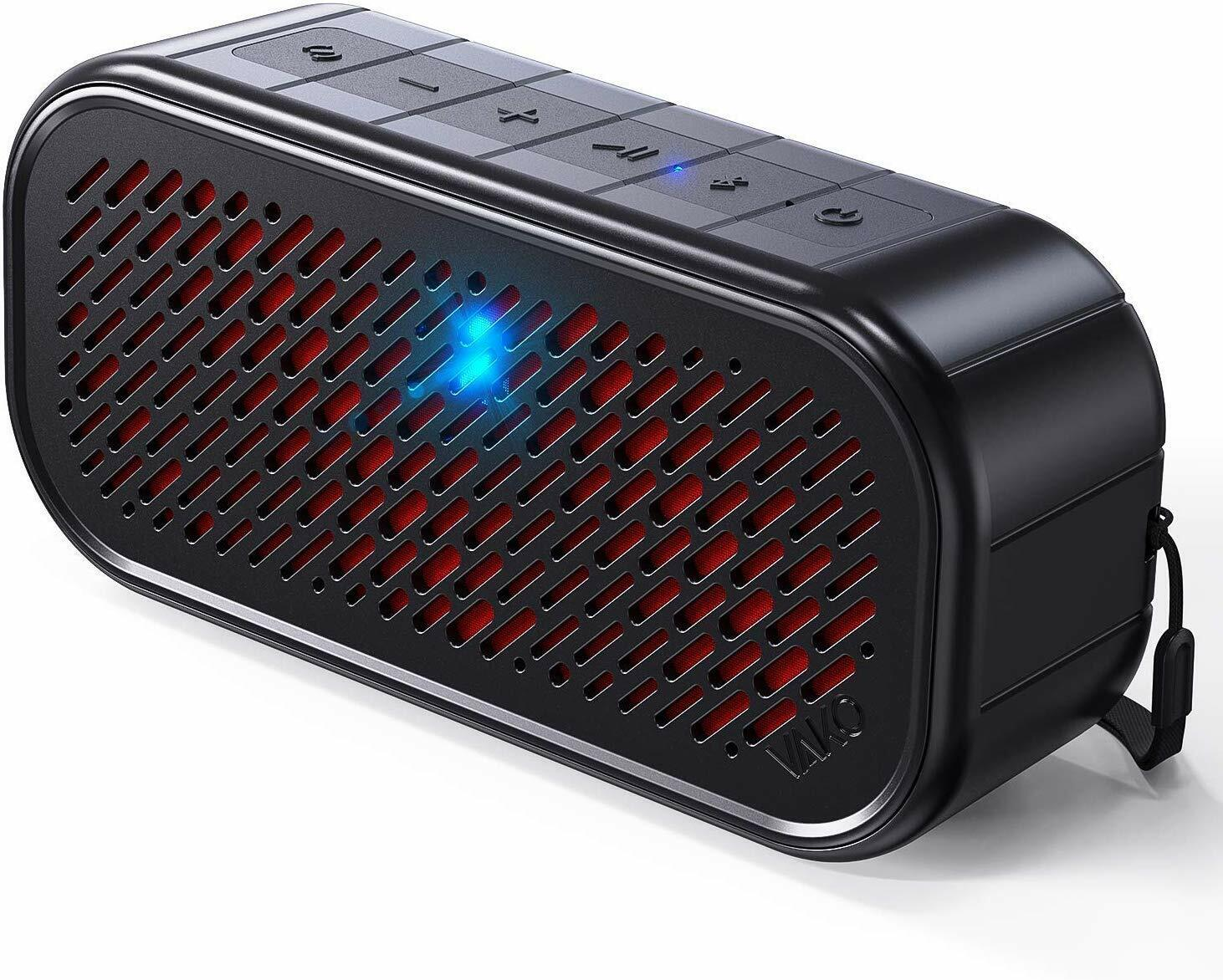 portable wireless speaker with flashing lights ipx5