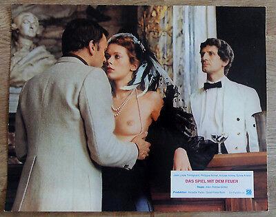 Aushangfoto Erotik * DAS SPIEL MIT DEM FEUER Sylvia Kristel