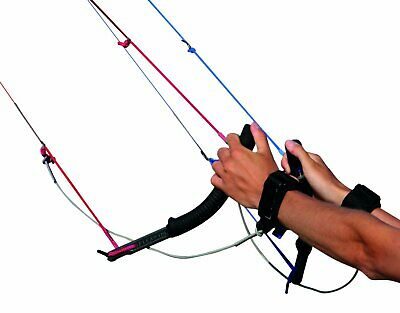 BRAND NEW Flexifoil Four Line Traction Power Kite Flying Handles + Safety System Fly Traction Kite
