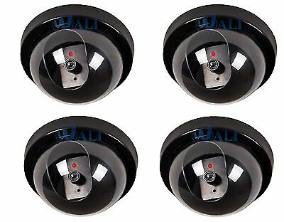 4 PACK Dummy Fake Security CCTV Dome Camera with Flashing Red LED Light SD-4