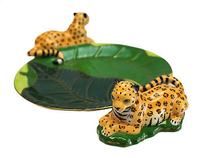 Купить Lynn Chase Jaguar Jungle - Lynn Chase Fine Porcelain Figurine Serving Tray in Jaguar Jungle, 2004. 3 Avail.