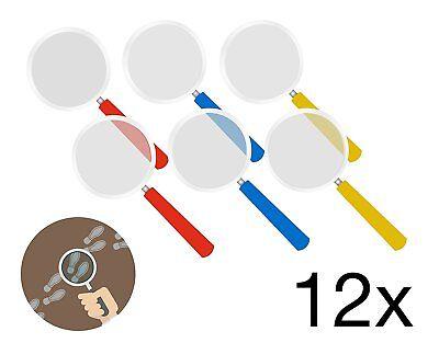 12x Lupen Lupe Mitgebsel Kindergeburtstag Party Gastgeschenke Detektiv Spielzeug