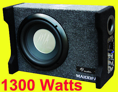 "10""inch powered ported enclosures subwoofer box 1300w compact design for all car for sale  Shipping to Ireland"