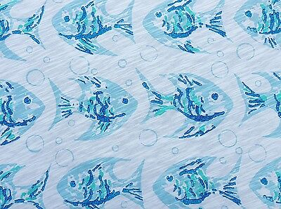 Finding the Fish Cotton Jersey Knit Fabric by the Yard Nemo Dory 6/16