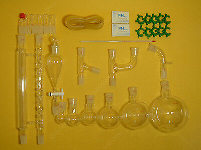 Lab Glassware Kitorganic Chemistrylab Glassware Kit 2429 30pcs