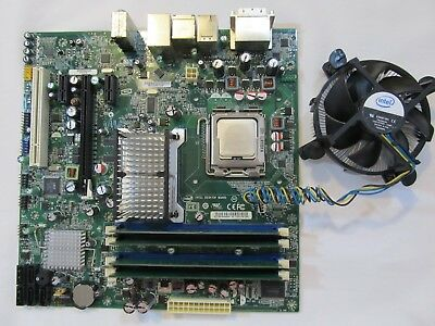 INTEL Motherboard with Intel Core2 Quad Processor Q8200, Memory, Fan tria-Q820