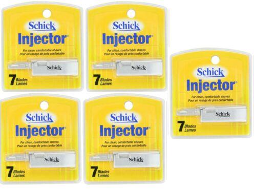 Schick Injector Single Edge Razor Blades - 7 Blades (5 Pack)