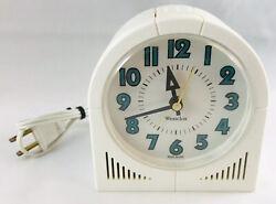 Westclox Vintage Glows All Night Super Electric Retro Alarm Clock Extra Loud