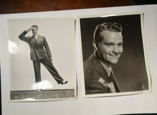 "2 Vintage Red Skelton Publicity Photos - MGM Portrait & ""Balance of Imbalance"""