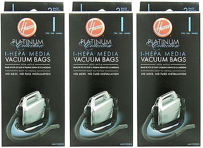 Hoover Type I HEPA Bag (6-Pack), AH10005