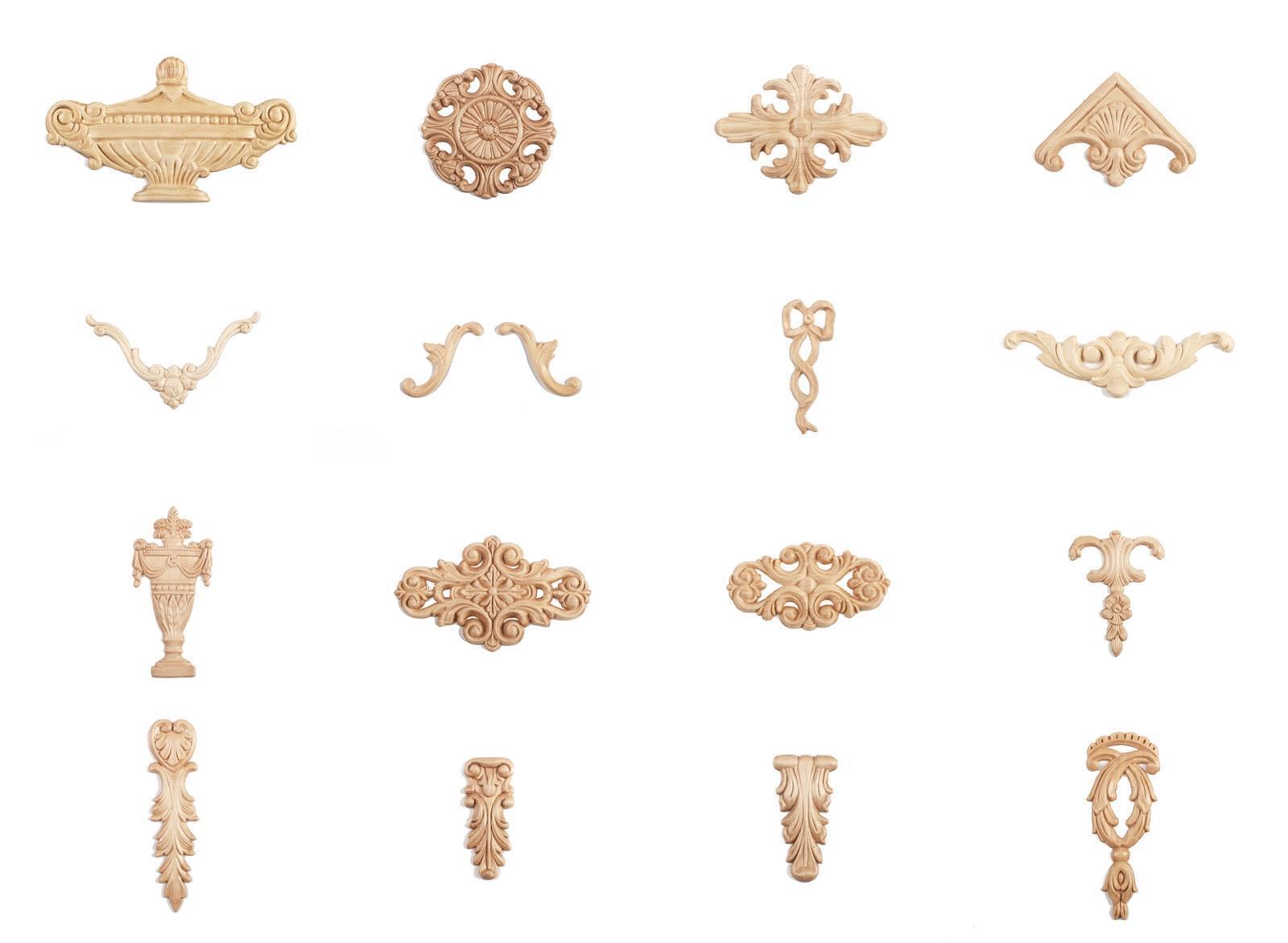 Holz zierteile verzierungen kapitelle buche ornament antik for Industrie mobel antik