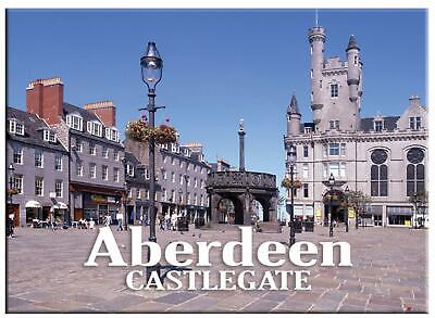 Aberdeen City Castlegate Fridge Magnet Metallic